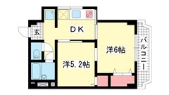 シルフィードARATA(旧:吉田マンション 201の間取