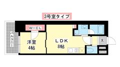 ブエナビスタ神戸駅前 1303の間取