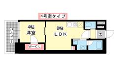 ブエナビスタ神戸駅前 1304の間取