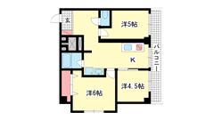 シルフィードARATA(旧:吉田マンション 203の間取