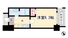 ダイドーメゾン神戸六甲 1001の間取