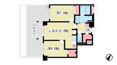 アパタワーズ神戸三宮 413の間取