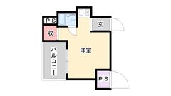 ライオンズマンション神戸 804の間取