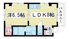 ERCity's nishinada 202の間取