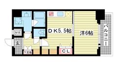 エステムプラザ神戸水木通グランクロス 1008の間取