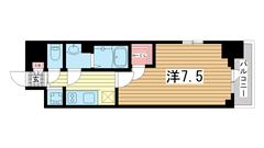 エスリード神戸ハーバーテラス 208の間取