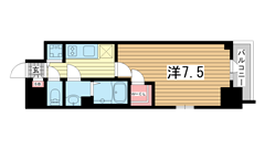 エスリード神戸ハーバーテラス 701の間取