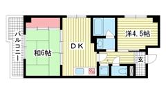 新神戸都マンション 701の間取