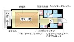アーバネックス新神戸 406の間取