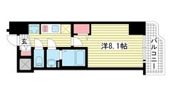 ララプレイス ザ・神戸シルフ 203の間取