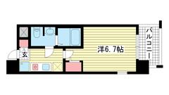 ライジングコート深江本町フラワーパーク 801の間取