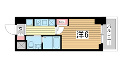 エステムプラザ神戸西Ⅳインフィニティ 307の間取