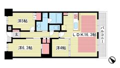 パークホームズ神戸ザレジデンス 1818の間取