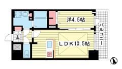 プレサンス THE 神戸 1408の間取