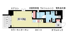 レジディア神戸磯上 1209の間取