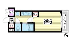 エステムコート神戸・県庁前 604の間取
