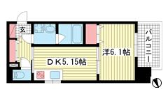 プリオーレ神戸新開地 201の間取
