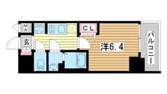 プレサンス神戸キュリオ 501の間取