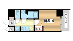 プレサンス神戸キュリオ 806の間取