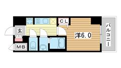 プレサンス神戸元町ベルシオン 1002の間取