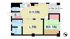 和田宮マンション 4Fの間取