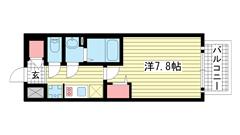 ララプレイス ザ・神戸シルフ 302の間取