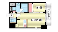 エステムコート神戸元町ヒルズ 201の間取