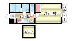 KTIレジデンス魚崎Ⅱ 106の間取