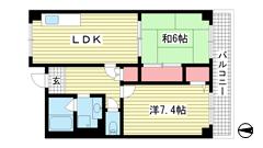 オーシャンビュー神戸 302の間取