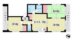 五代松本ビル 3Fの間取