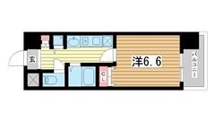 ロイヤルヒル神戸三ノ宮 808の間取