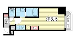SDグランツ神戸駅前 201の間取