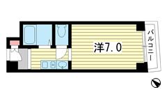 敷礼ゼロゼロ☆人気のみなと元町エリアで独立洗面台でこの家賃♪ 1111の間取