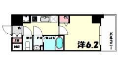 プレサンスジェネ新神戸ステーションフロント 303の間取