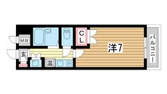 ハイネス生田 201の間取