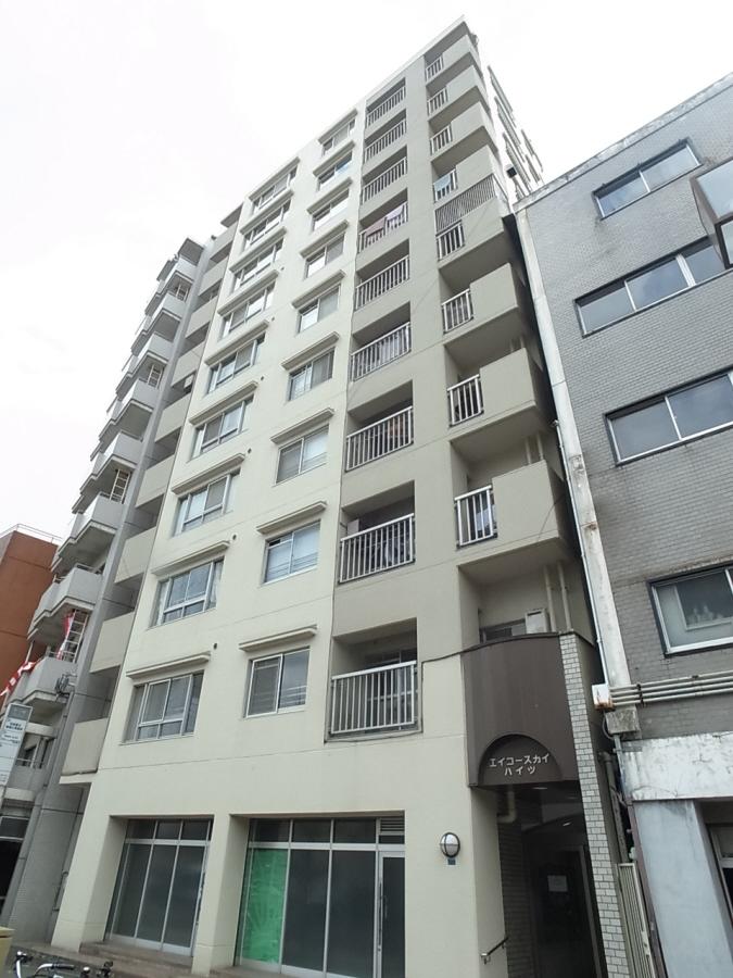 物件番号: 1025802806 エイコースカイハイツ  神戸市中央区中山手通2丁目 3LDK マンション 外観画像