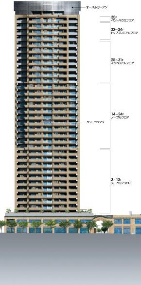 物件番号: 1025835573 トア山手 ザ・神戸タワー  神戸市中央区中山手通3丁目 1LDK マンション 画像3