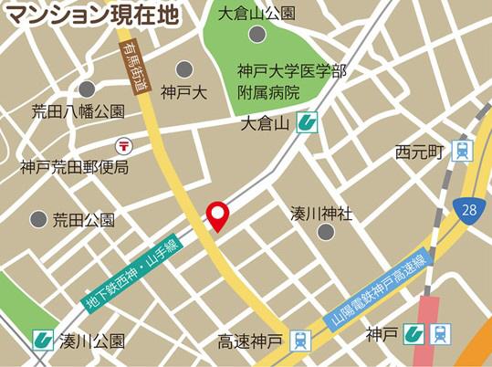 物件番号: 1025867418 J-cube KOBE  神戸市中央区楠町6丁目 1K マンション 画像1