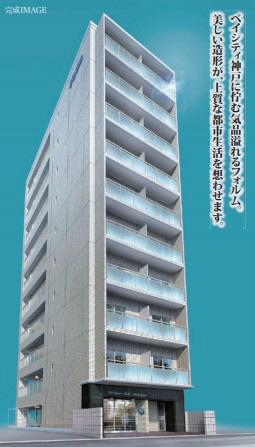物件番号: 1025883230 SDグランツ神戸大開通  神戸市兵庫区大開通7丁目 1R マンション 外観画像