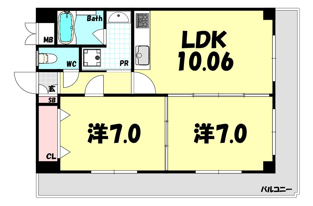 物件番号: 1025884118 神戸中山手ハウス22  神戸市中央区中山手通6丁目 2LDK マンション 外観画像