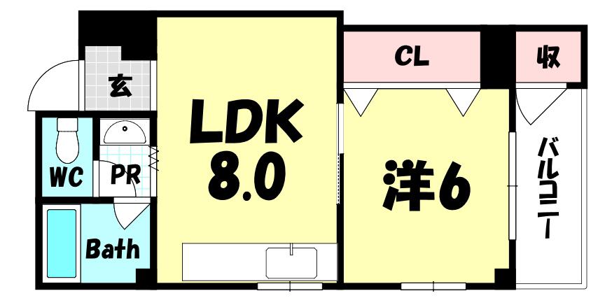 物件番号: 1025884187 新生ビル999  神戸市中央区下山手通3丁目 1LDK マンション 外観画像