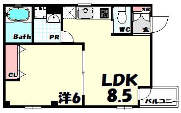 物件番号: 1025884190 リーフハイツ999  神戸市中央区雲井通3丁目 1LDK マンション 外観画像