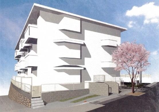 物件番号: 1025849070 モンテボヌールⅡ  神戸市灘区篠原北町3丁目 2LDK ハイツ 外観画像